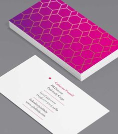 Tailored Collection Business Card Designs | Gold Foil, Spot UV templates