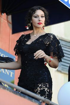 Monica Bellucci behind the scenes at Dolce & Gabbana shooting