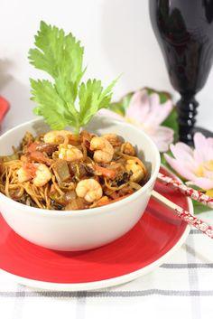 Fideos fritos indonesios