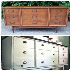 Bungalow 968 nine drawer dresser before and after