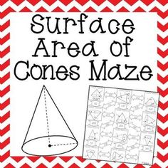 Great surface area of cones practice for my Geometry students! I love ...