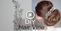 Easy DIY Hair Vine with Rhinestones and Pearsl – Hair Accessory How to Tiara, Hair Comb Easy DIY Hair Vine mit Strass und Birnen – Haarschmuck How to Tiara, Hair Comb Wedding Hair Brooch, Bridal Hair Tiara, Tiara Hair, Bridal Hair Buns, Diy Wedding Hair, Wedding Blog, Diy Rhinestone Hair Accessories, Bridal Hair Accessories, Diy Tiara