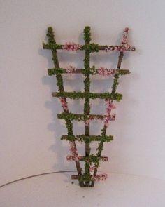 Poppenhuis Trelly, Tuin Trelly. Trelly tuin sieraad, poppenhuis Tuin, twaalfde schaal poppenhuis miniatuur