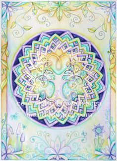 Limited edition Fairy Tree Mandala Gliclee fine art reproduction.  By Timea Varga via Etsy.