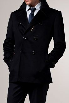 The Gold Standard Navy Belted Peacoat