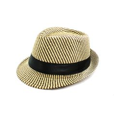 ebaf9828d9c Include a retro feel in your outfit with this brown woven fedora hat by  Faddism.