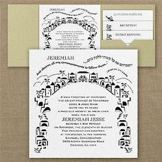 Commandment of Faith Pocket Bar Mitzvah Invitation