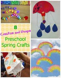 8 Easy preschool spring crafts - colorful, cheery, and easy enough for preschoolers to do independently! I bet there are some on this list that you haven't seen yet!!!!