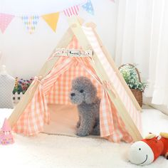 Lovely Indian small indoor Pet Dog Tent Play House - Dog Shoes And Dog Booties - 1