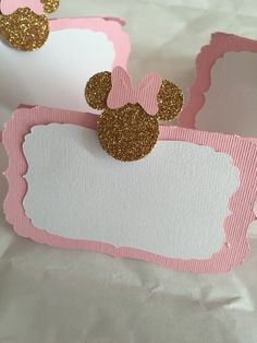 Pink/gold Minnie mouse food labels. Pink Minnie Mouse birthday. Minnie mouse…