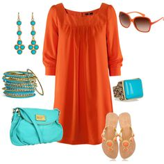 Coral & Turquoise, love these colors together!