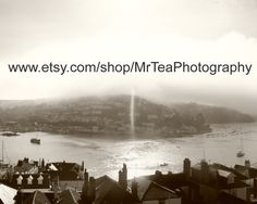Stunning black and white photo of Kingswear from Dartmouth by MrTeaPhotography, £10.00