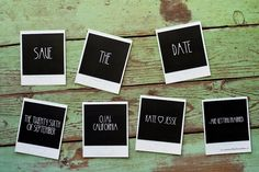 Save the date idea from Kate Danson and Jesse Bocho's wedding
