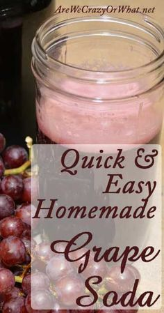 quick and easy homemade grape soda how to make homemade grape soda ...