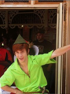 Spieling Peter---BEST Peter Pan ever at Disneyland! Andrew Ducote embodied Peter Pan heart, mind and soul. :) Very lucky to have a pic of him. Had to chase him, but worth it lol.