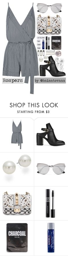 """""""Romper🌚"""" by baimatovaaa ❤ liked on Polyvore featuring Seafolly, Miss Selfridge, AK Anne Klein, Prada, Valentino, Christian Dior, Kiehl's, Tim Holtz and Guide London"""