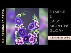 How to paint a simple morning glory flowers | Acrylic painting | one stroke decorative art - YouTube