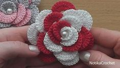 Crochet flower rose #crochet #crochetflower #crochetrose #freecrochetpatterns #crochettutorial #ravelry