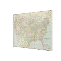 Vintage United States Map (1889) Canvas Print