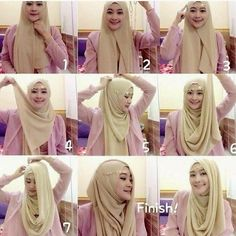 Easy 2 Minutes Jeweled Hijab Tutorial