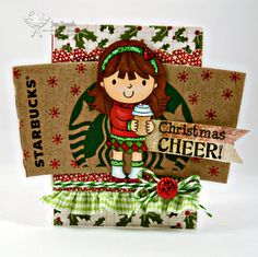 Gift Card holder (YNS Stamps) by Jennifer R - Cards and Paper Crafts at Splitcoaststampers Little Christmas, Christmas Cards, Christmas Ornaments, Starbucks Gift Card, Bakers Twine, Basic Grey, Paper Crafts, Holiday Decor, Wrapping