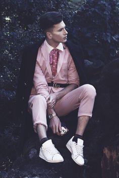 Jacket  ZARA / Trousers  ZARA/ Shirts BALMAIN / Belt GUCCI /Tie ESCADA /Socks  Calzedonia/ Sneakers Adidas Original / Watch Calvin Klein / Coat H&M for David Beckham  Photography : Jacek Juras