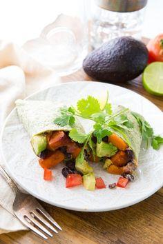 Black Bean Sweet Potato Wraps Recipe