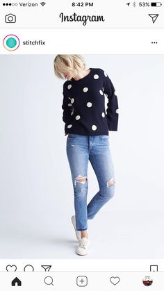 I am in love with this polka dot sweater!
