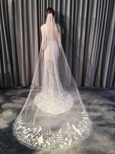 Wild Flower (Floral White Chapel Length with Message)- Hermione de Paula, Spring 19 #newyorkbridalfashionweek #newyorkbridalfashionweekspring19 #wedding#weddingdress #weddinggown #bride#bridal #weddingstyle #weddinginspiration #weddingfashion #weddingdetails #whitegown #floralpatterns #flowerygown #bespoke #bespokeweddinggown #hermionedepaula #floralgown #bridalcollection #HdePbridal #handmade  #luxurybridal #sayyestothedress #couture  #pieceofart #highestquality…