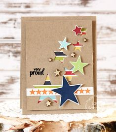 Card by PS DT Laurie Schmidlin using PS Seeing Stars and Star dies