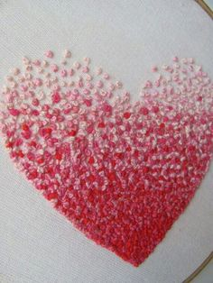 All you need is love...and French knots, lots and lots of knots