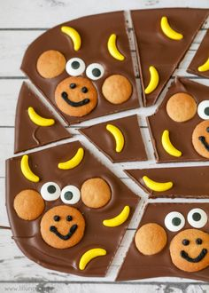 Monkey Bark - so cute and so simple!! Everyone will love this treat idea.