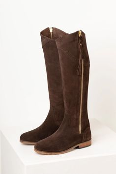 Ladies Suede Spanish Riding Boots UK | Tall Suede Boots | Rydale
