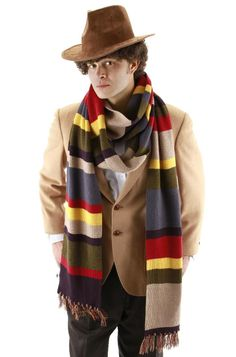 Doctor is Who Cosplay The 4th Fourth Dr Tom Baker Costume Men Outfit In Stock