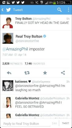 You could tell which is which because Dan never tweets with capital letters
