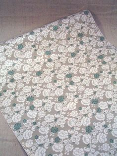 Grey, White, & Teal Vintage Floral Contact Paper-Victorian Roses. $5.25, via Etsy.