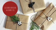 Beim Weihnachtsgeschenke verpacken kann man unheimlich kreativ sein. Wir zeigen euch, wie man Geschenke mit Packpapier kreativ verpacken kann.