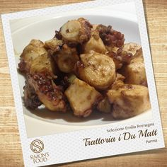 Polpo saltato con vellutata di patate Parma, Food, Hoods, Meals