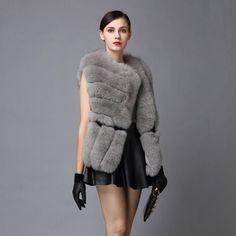Fur Story 16248 Hot Sale Winter Women's Real Fox Fur Vest Furry Natural Fur Waistcoat Asymmetric placket Female Color Optional #HespiridesGifts #amazing #beautiful #best #bestoftheday