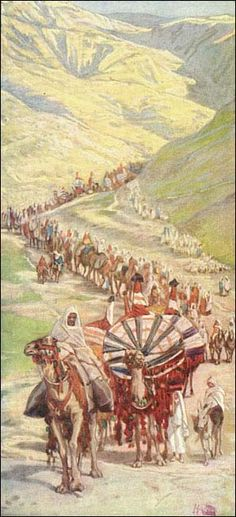 "Abram's Caravan Out of Egypt. BIBLE SCRIPTURE: Genesis 13:Genesis 13:1, ""And Abram went up out of Egypt, he, and his wife, and all that he had, and Lot with him, into the south."" - http://access-jesus.com/Genesis/Genesis_13.html"