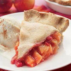 Peach-Raspberry Pie - Dessert Recipes - Fruit Recipes - Delish.com