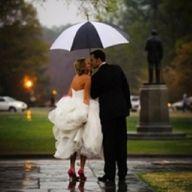 picture in the rain. <3