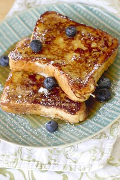 Sunday Morning Blueberry Bourbon French Toast - Click for Recipe