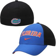 Florida Gators Nike Canvas Arch Wordmark Swoosh Flex Hat - Royal 6397421565d1