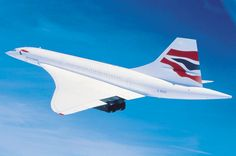 The Concorde, one of the most beautiful commercial planes ever built.  My only regret is I never flew on one.