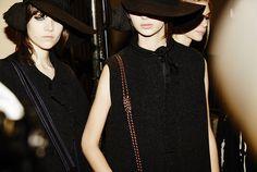 HATS  En backstage du défilé Lanvin automne-hiver 2015-2016