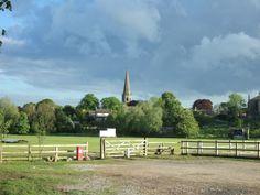 Masham Church, from the cricket ground car park