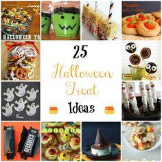 25 Halloween Treat Ideas #halloween #halloweentreats