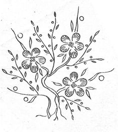 flower bush (hand embroidery pattern/transfer) by Bits of Stitching!, via Flickr