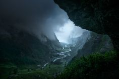 Nature: Descent to Rivendell, by Enrico Fossati 'During a violent thunderstorm in France's Haute Savoie, I took refuge inside a big cave in the mountain. From the inside I was able to capture this dangerous but fascinating summer storm. The quick movement of the clouds gave me only a few chances to shoot the scene in good conditions before they descended, bringing down the curtain. The title was inspired by a John Howe illustration for The Hobbit.'